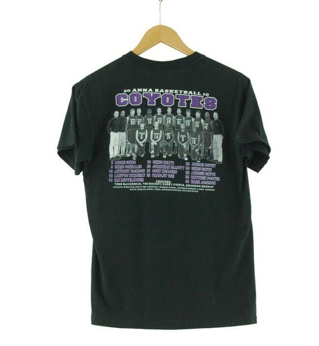 Back of Coyotes Playoffs Retro Print T Shirt