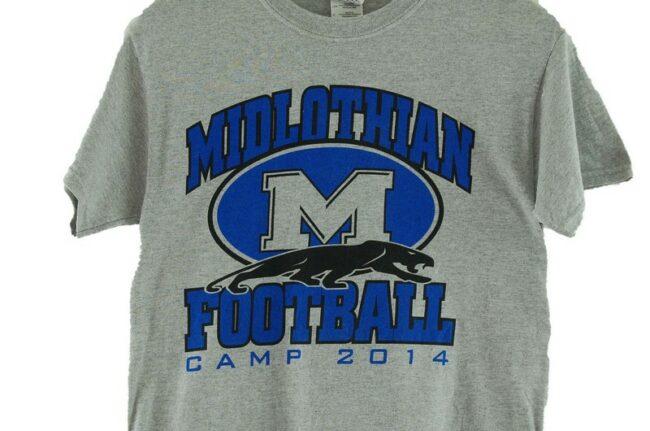 Close up of Midlothian Football Retro Tshirt