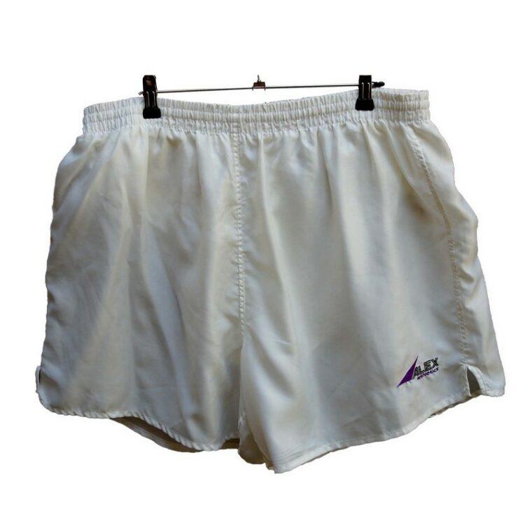 White Satin Alex Athletics Shorts