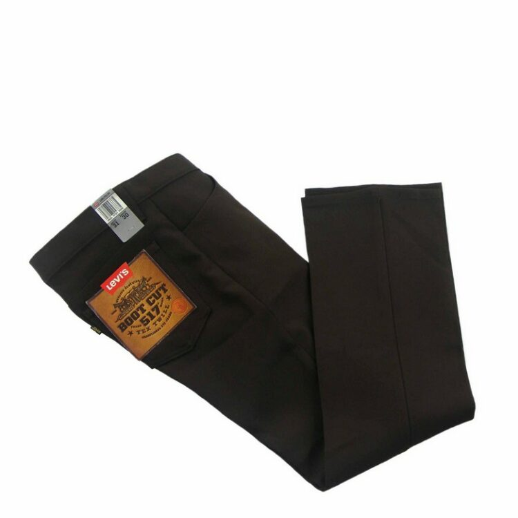 Deadstock 70s Brown Levis 517 Mens Bootcut Trousers