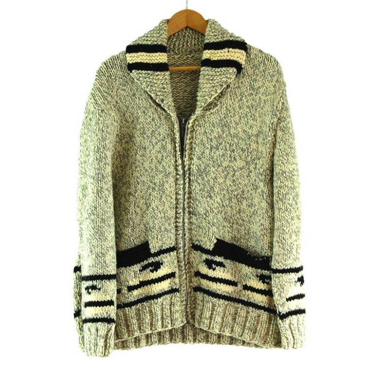 70s Curling Cowichan Sweater