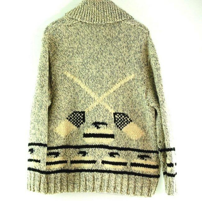 Back of 70s Curling Cowichan Sweater
