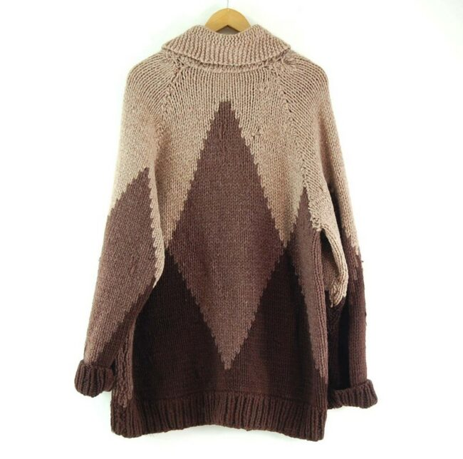 Back of 70s Mens Cowichan Sweater