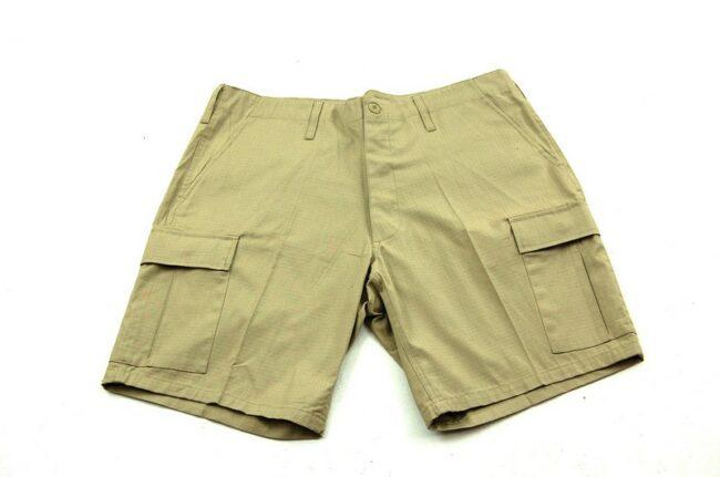 Dead Stock Mens Khaki Cargo Shorts