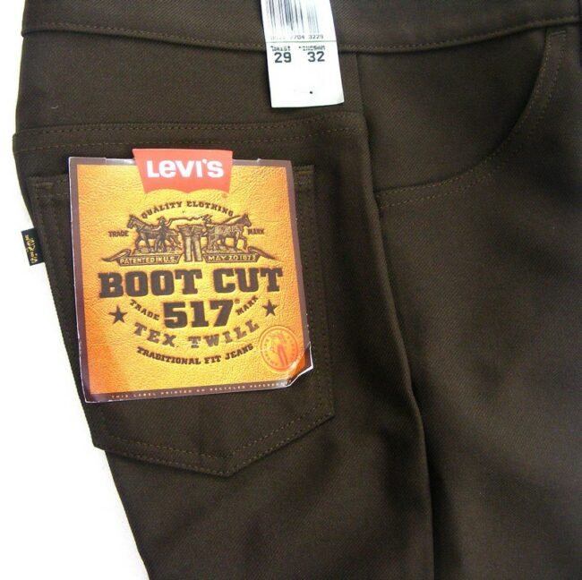 Close up of Close up of 70s Bootcut Deadstock 517 Levis Trousers
