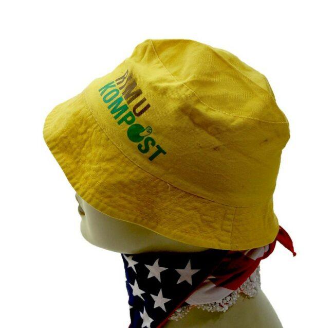 Side of Yellow Rimu Kompost Bucket Hat
