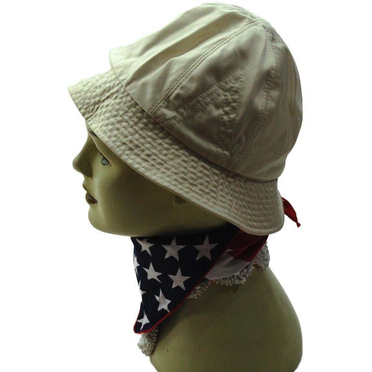 Side of Nino Beige Bucket Hat