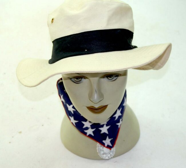 Front of Beige Bush Hat
