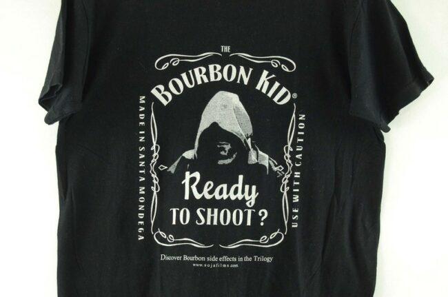 Close up of Bourbon Kid Mens Black Tee