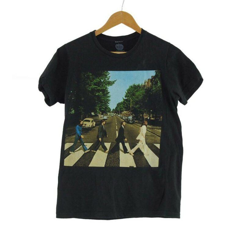 Beatles Abbey Road Mens Black Tee