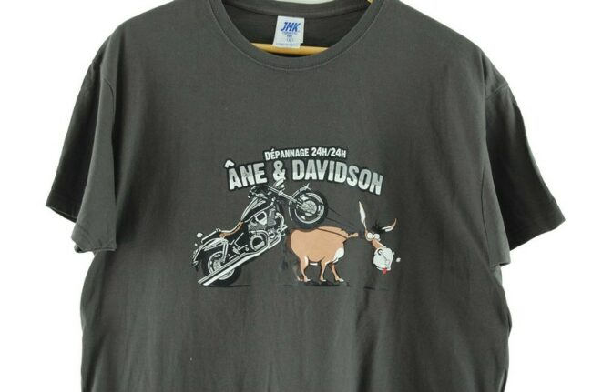 Close up of Grey Graphic Tee Ane And Davidson