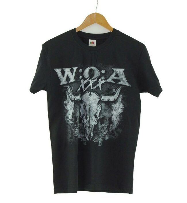 WOA Fruit of the Loom Mens Black Tee