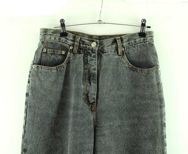 Close up of 90s Arizona High Waisted Jeans