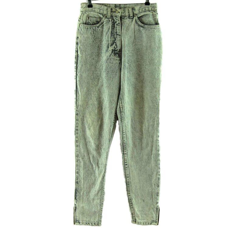 Explorer Acid Wash High Waisted Jeans