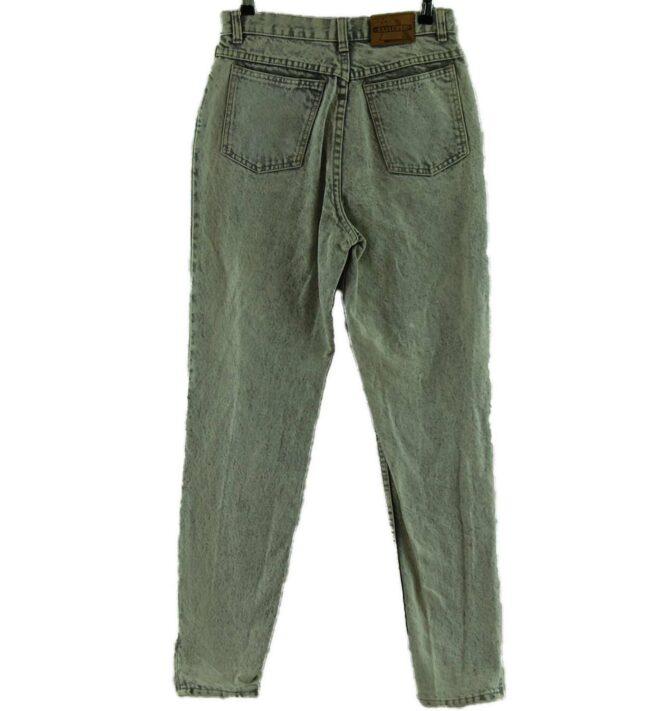 Back of Explorer Acid Wash High Waisted Jeans