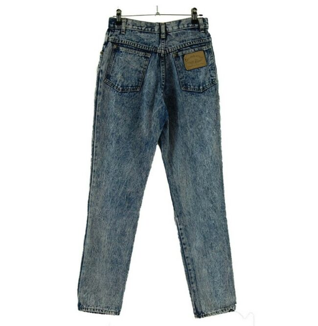 Back of High Waisted Baggy Jeans