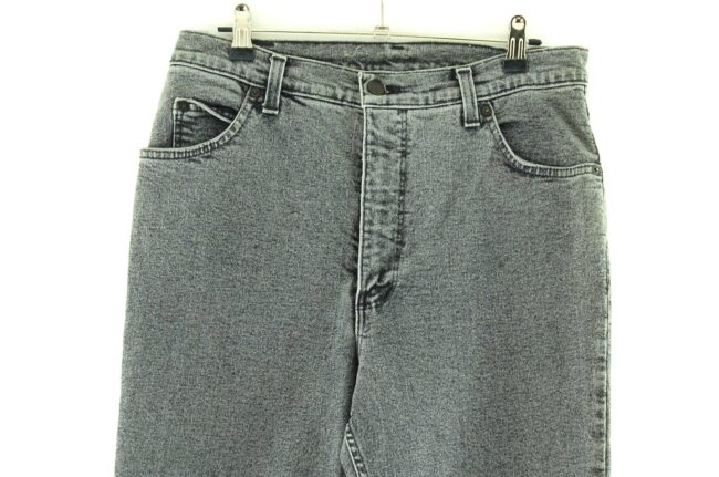 Close up of Wallys High Waisted Washed Jeans