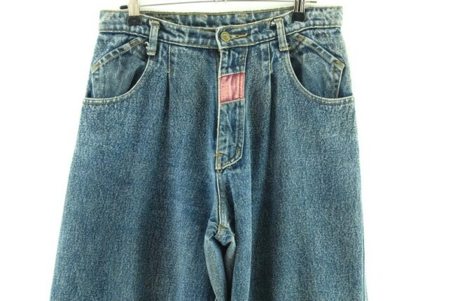 Front of Blue High Waisted Jeans