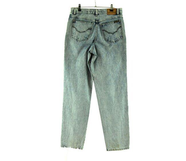 Back of Arizona Jeans Acid Wash Jeans Womens