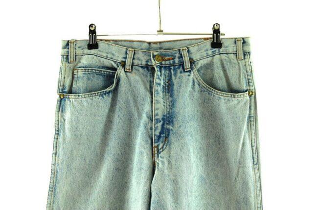 Front of 707 Star Acid Wash Skinny Jeans