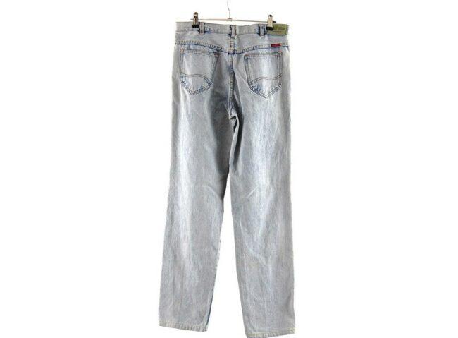 Back of 707 Star Acid Wash Skinny Jeans