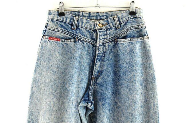 Front of Chewan Blue Acid Wash Jeans