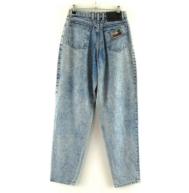 Back of Chewan Blue Acid Wash Jeans