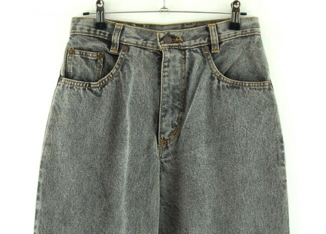 Front of Wallys Grey High Waisted Jeans