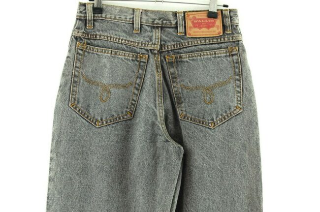 Back of Wallys Grey High Waisted Jeans