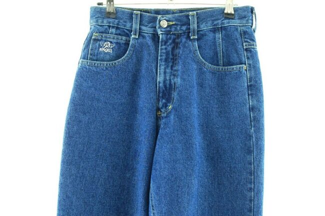 Front of Denim Blue High Waisted Jeans