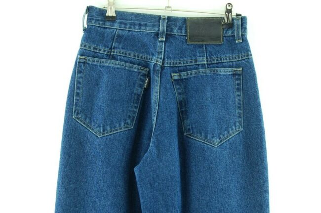 Back of Denim Blue High Waisted Jeans