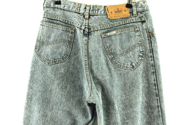 Back Close up of Grey High Waisted Mom Jeans
