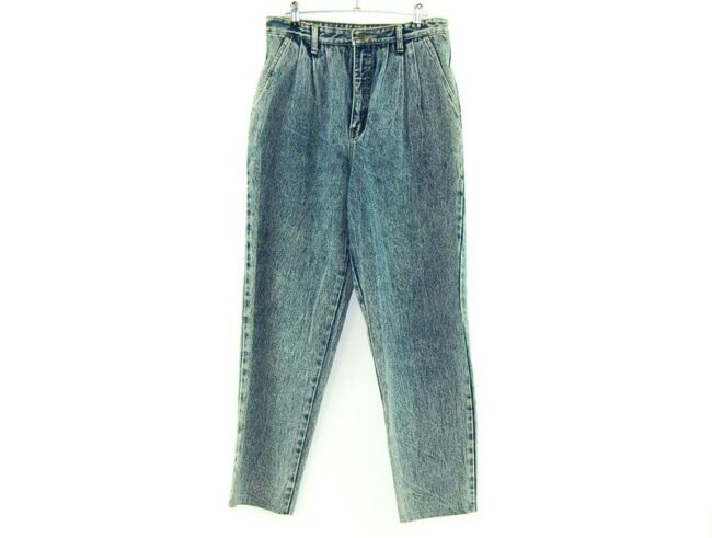 Chef High Waisted 80s Acid Wash Jeans