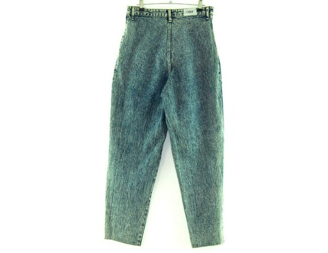 Back of Chef High Waisted 80s Acid Wash Jeans