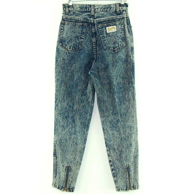 Back of Acid Wash Mom Jeans