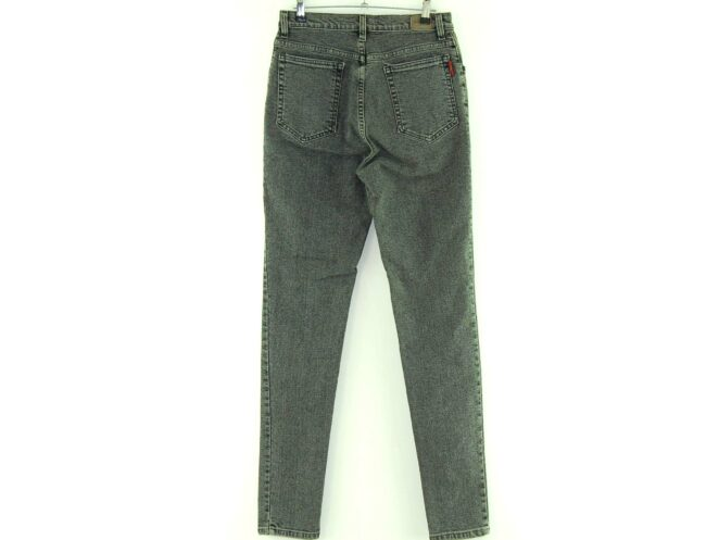 Back of Wallys Grey High Waisted Skinny Jeans