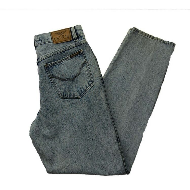 Arizona Jeans Acid Wash Jeans Womens