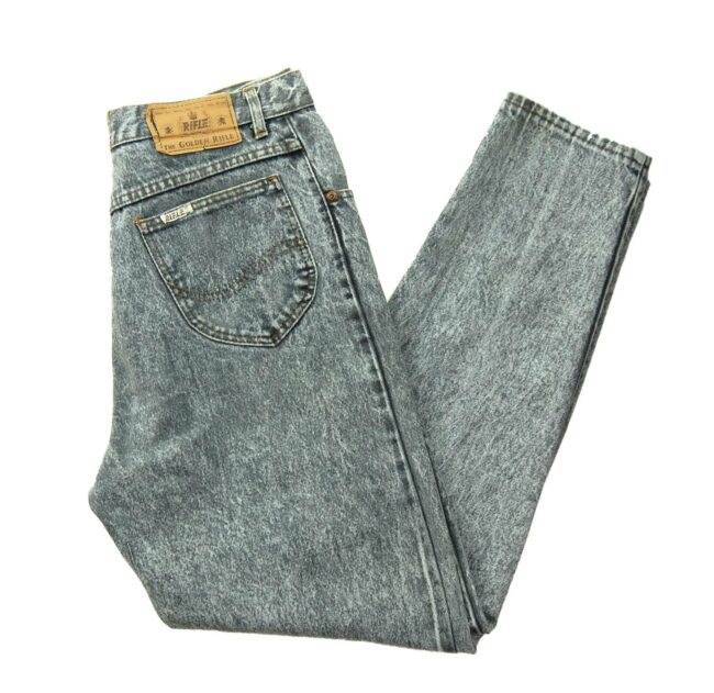 Grey High Waisted Mom Jeans