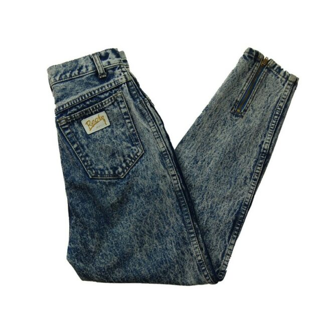 Acid Wash Mom Jeans