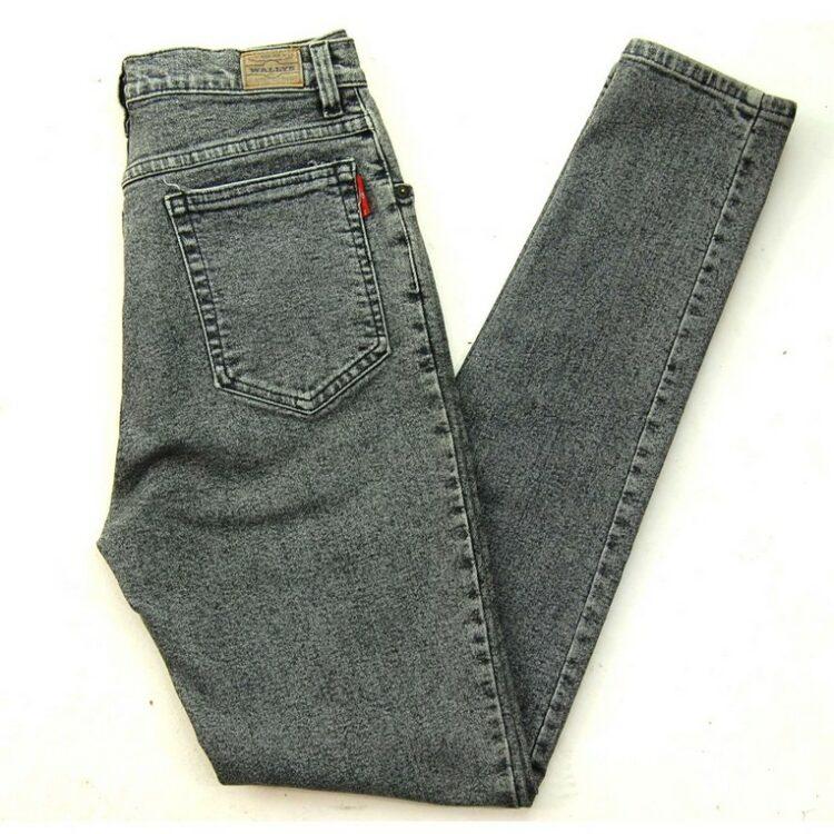 Grey Baggy Jeans High Waist