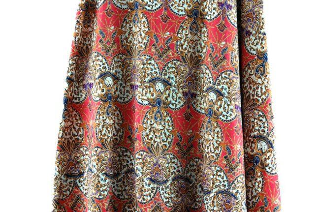 Close up of Cotton Wrap Maxi Skirt