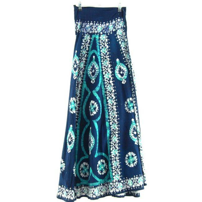 Back of Vintage Wrap Around Skirt