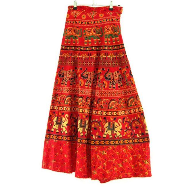 Back of Summer Wrap Around Skirt