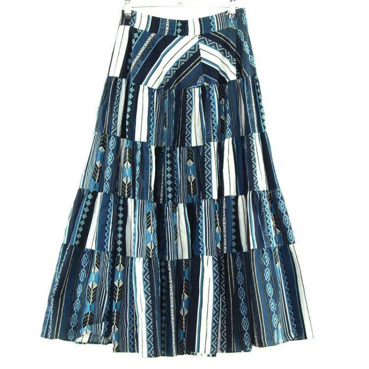Folk Print Gypsy Skirt