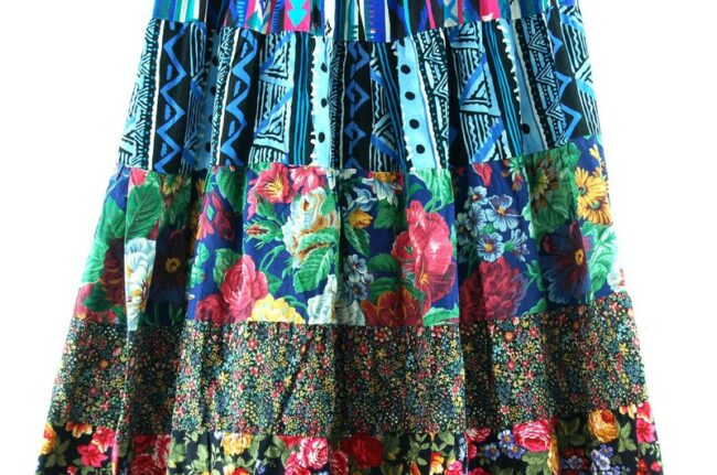 Close up of Tiered Maxi Skirt