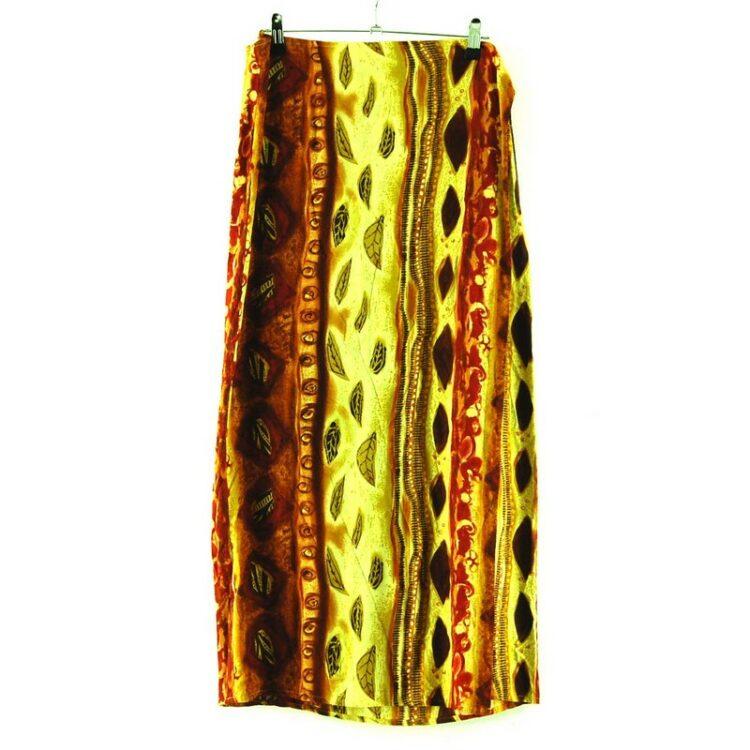 Leaves Wrap Over Skirt
