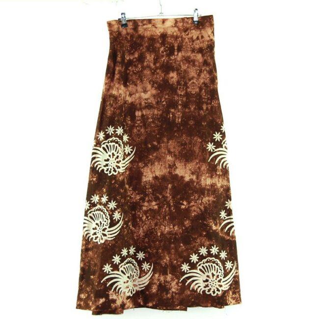 Back of Tie Dye and Batik Long Skirt
