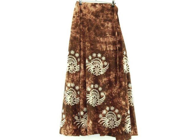 Tie Dye and Batik Long Skirt