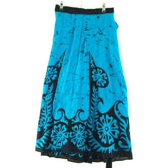 Back of Blue Floral Batik Skirt Indonesia
