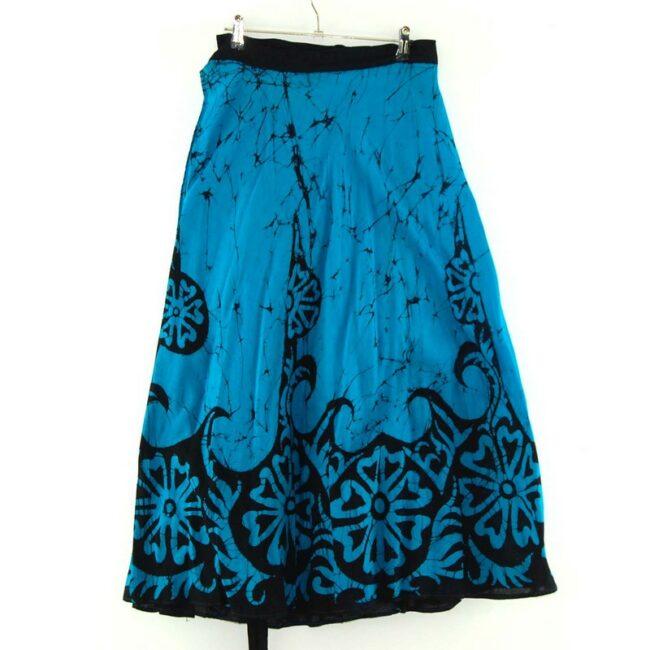 Blue Floral Batik Skirt Indonesia